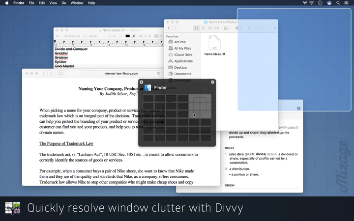 Quickly resolve window clutter with Divvy