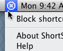 Block shortcuts with a hotkey or a click